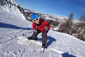 Kinder Ski fahren